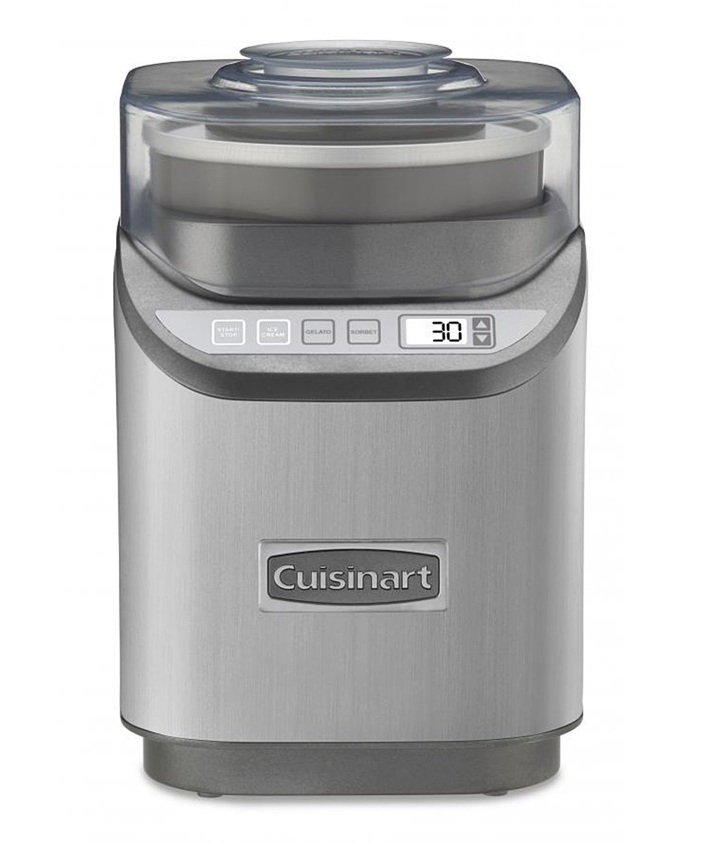 Cuisinart  Ice Cream Makers  - Electric Ice Cream Maker Electric Ice Cream Maker. Create delicious treats and delectable desserts in no time with this ice cream maker, which is distinguished by its easy to use electric design. Makes two quartsThree settings with multiple speedsCountdown timer; auto shut-offWipe cleanImported