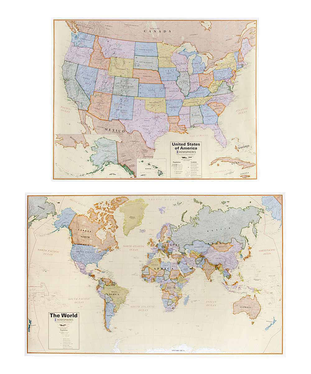 Round World Boardroom World Usa Map Set Zulily - Alternate-us-map