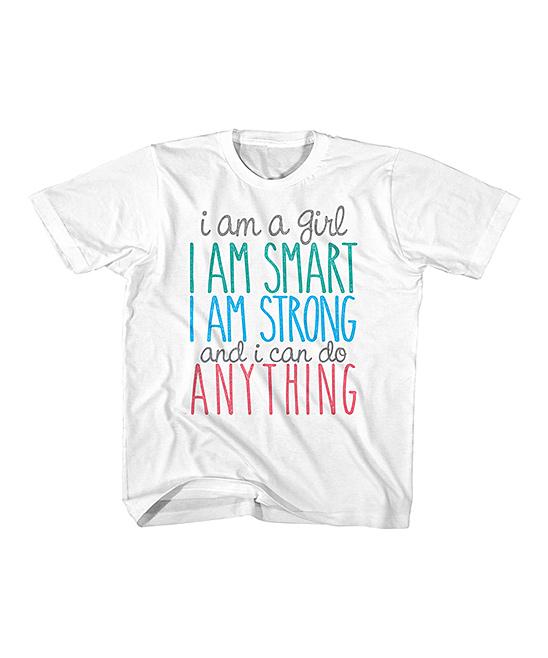 American Classics  Tee Shirts WHITE - White 'I Am Smart' Tee - Kids