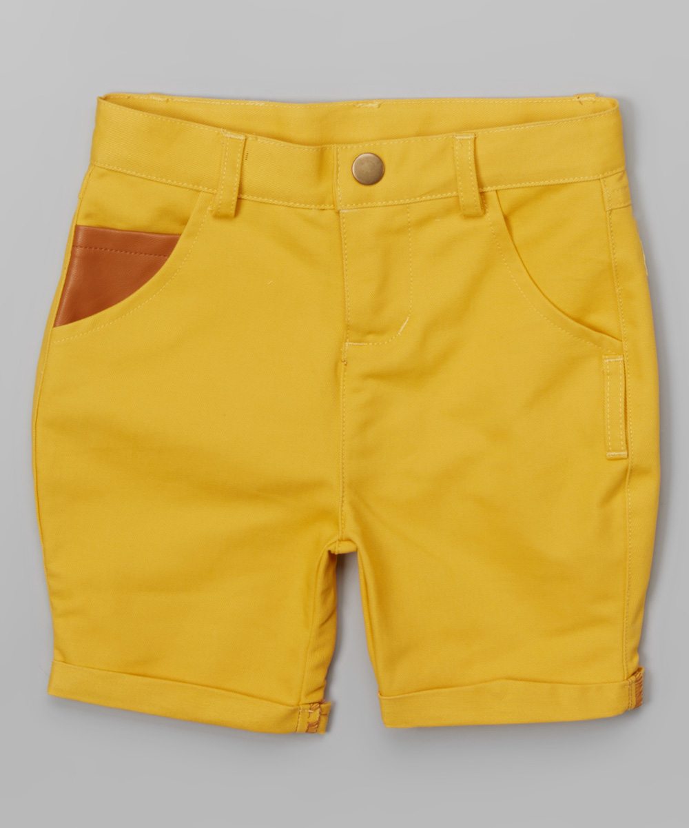 acedb7f389 Crew Kids Yellow Chino Shorts - Infant, Toddler & Boys