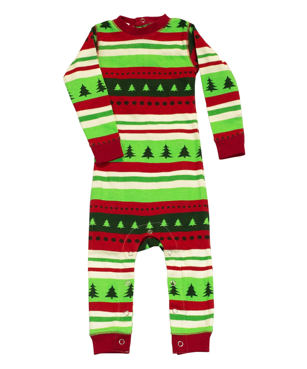 71bf916b85de Lazy One Green   Red special Delivery Flapjack Pajamas - Infant