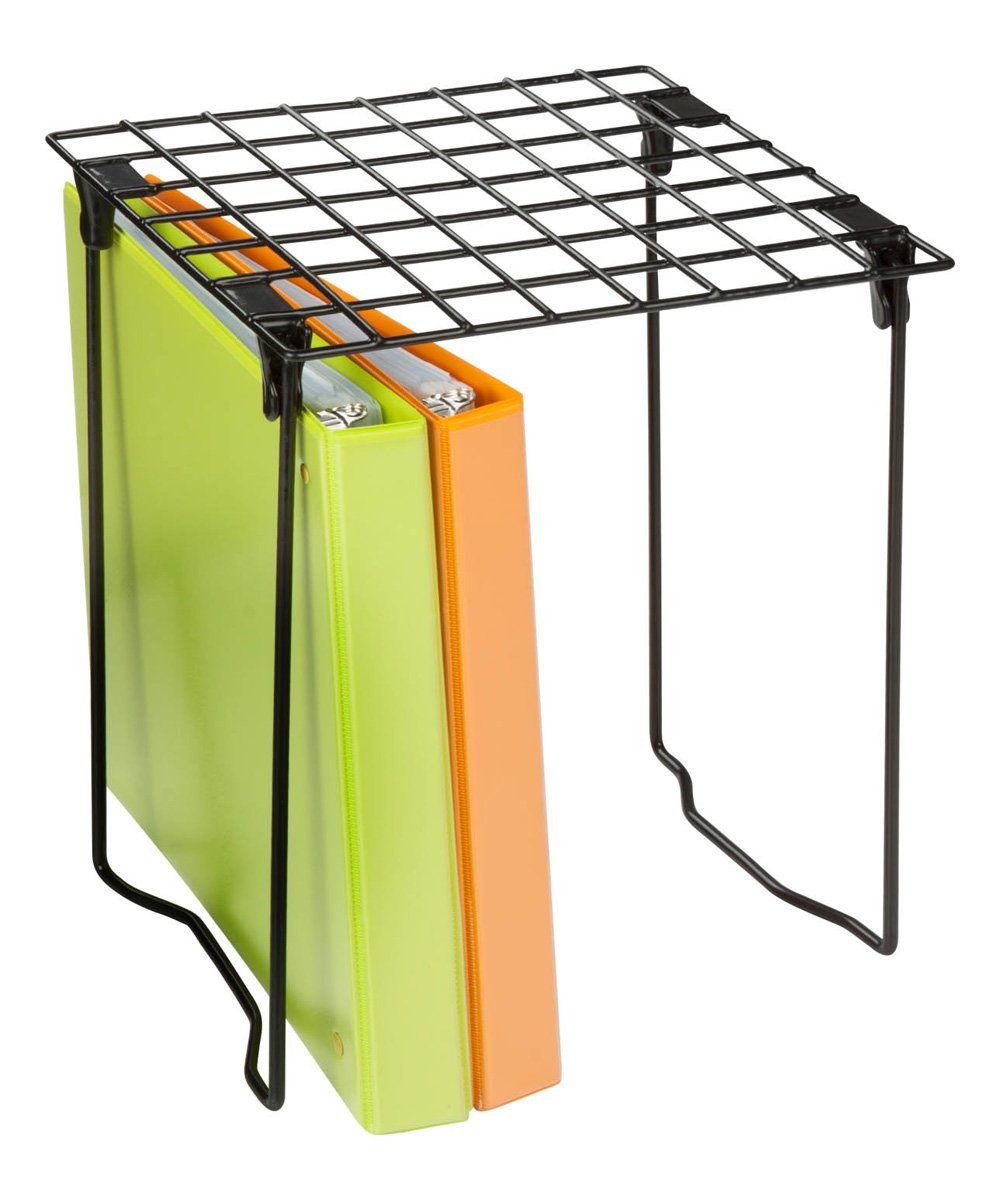 Honey-Can-Do  Storage Boxes Black - Black Folding Locker Shelf