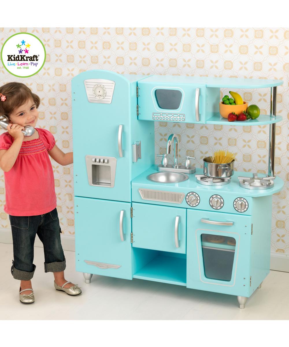 Blue Vintage Play Kitchen Set Alternate Image 1