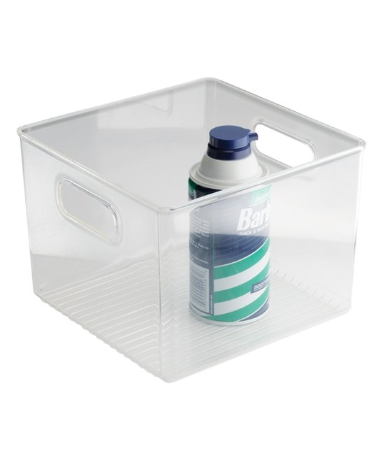 InterDesign Linus Bathroom Vanity Organizer Bin   Cabinet Storage Box for Health and Beauty Products -  Clear