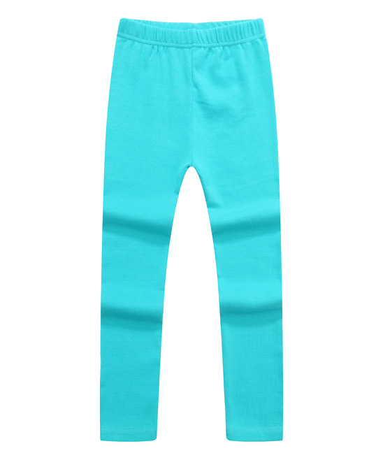 Blue Solid Fashion Leggings - Girls Blue Solid Fashion Leggings - Girls. A stretchy waistband offers pull-on simplicity and playtime-approved flex. 100% cotton Machine washImported