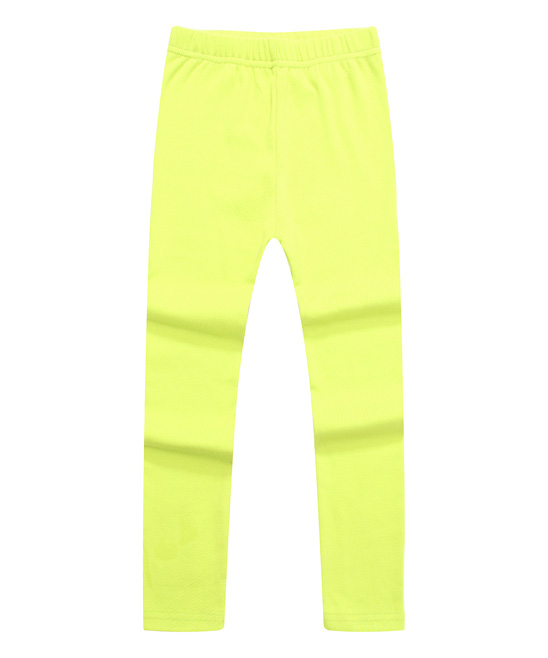 Green Solid Fashion Leggings - Toddler & Girls Green Solid Fashion Leggings - Toddler & Girls. A stretchy waistband offers pull-on simplicity and playtime-approved flex. 95% cotton / 5% spandexMachine washImported