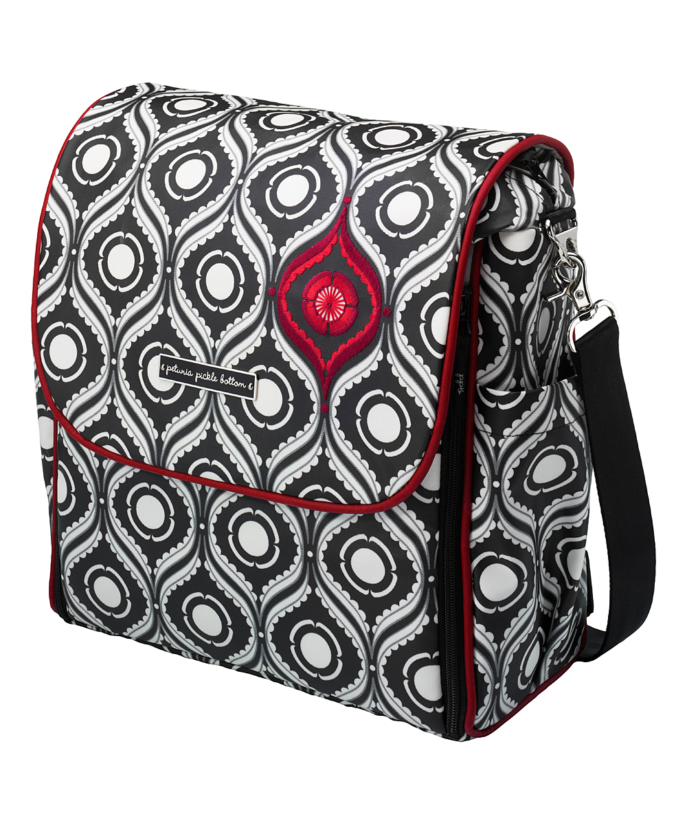 Petunia Pickle Bottom  Diaper Bags Red - Red & Black Evening in Islington Boxy Backpack Diaper Bag