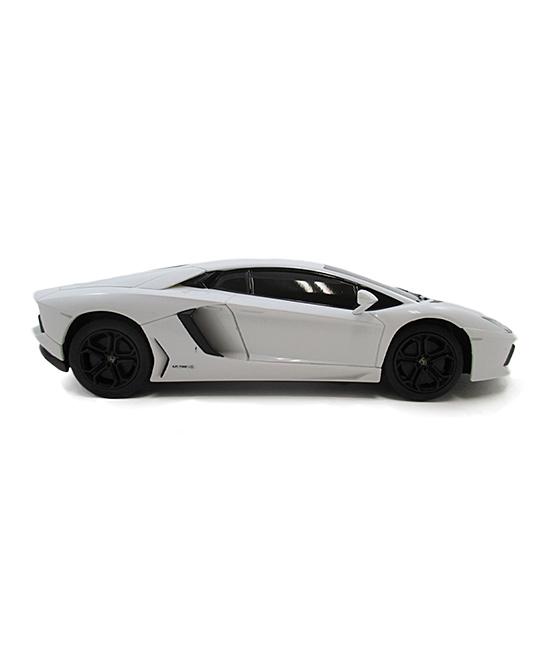 A to Z Toys  Remote Control Toys  - White Lamborghini Aventador Remote-Control Car