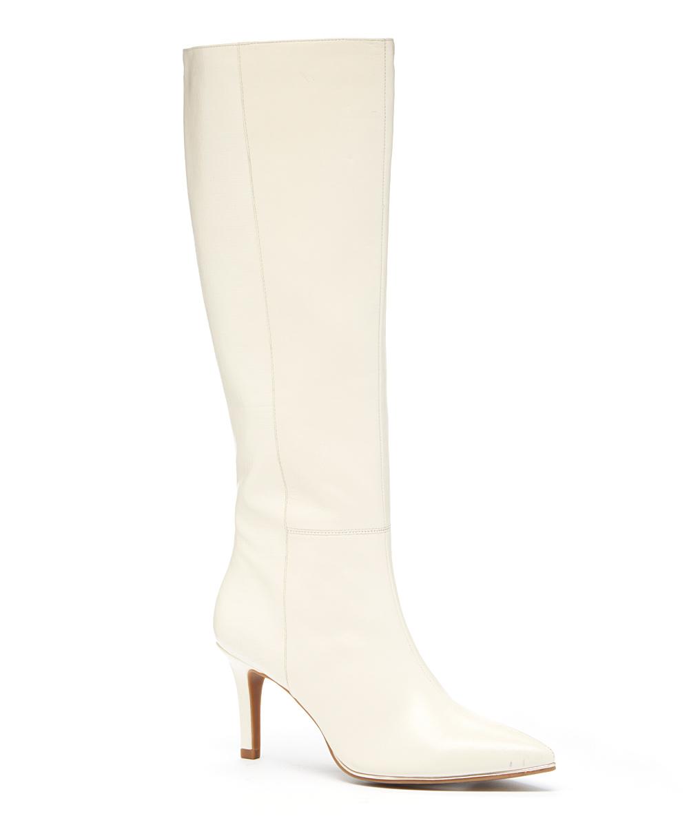 cebfde8f9e9 Bandolino Off-White Ferver Leather Boot
