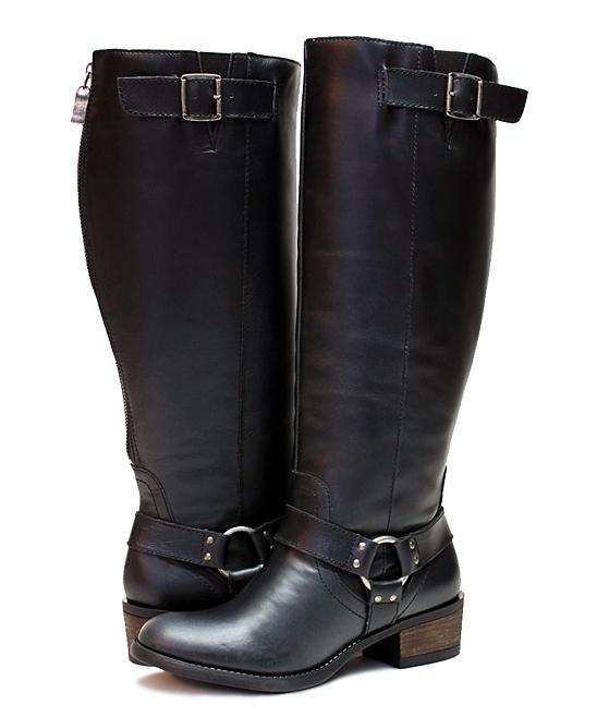 37dfe05d79c0 Vestiture Black Alamo Extra Wide-Calf Leather Boot - Women