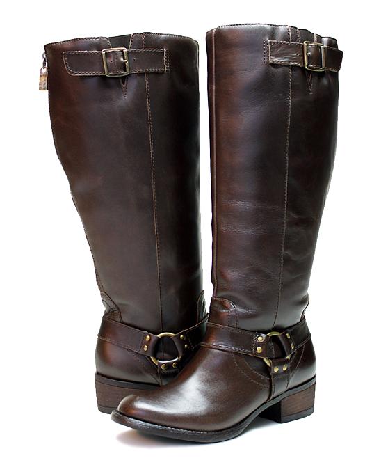 e74ef152c2e5 Vestiture Cocoa Alamo Extra Wide-Calf Leather Boot - Women