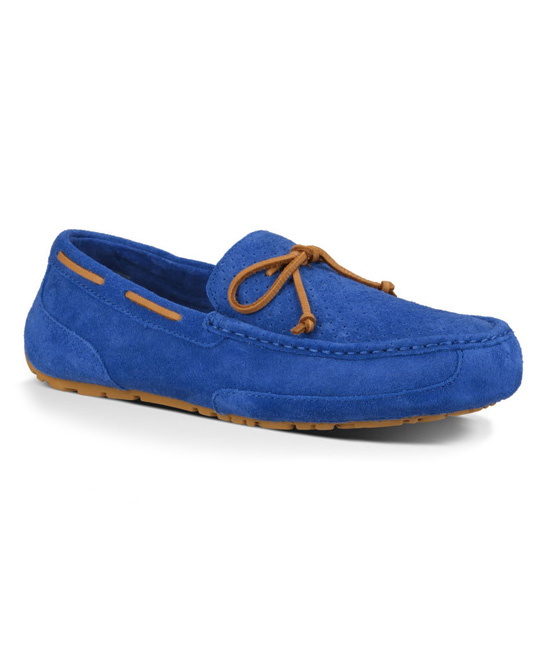27f51277895 UGG® Marine Blue Perforated Chester Suede Moccasin - Men