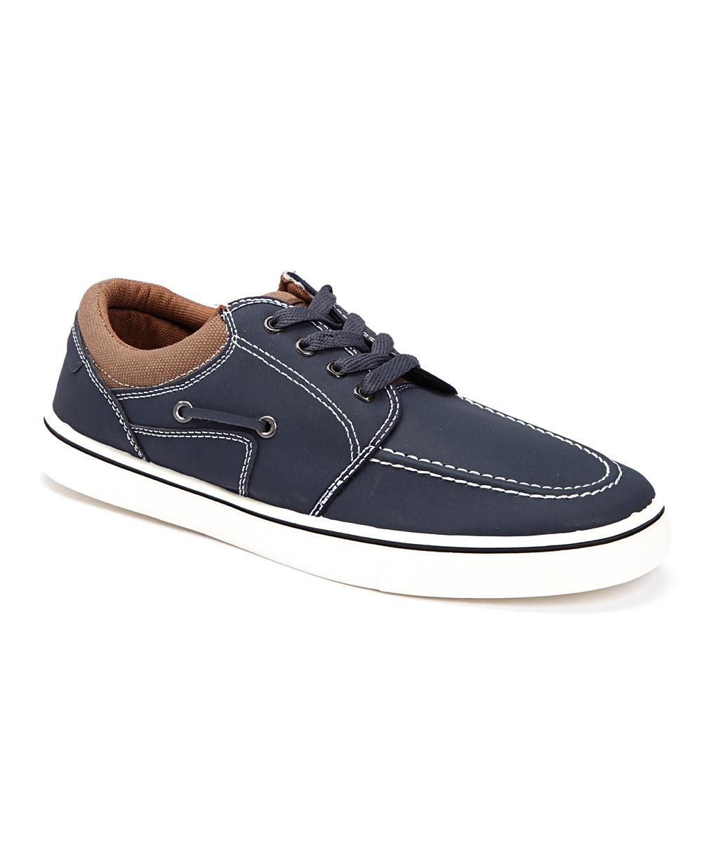 Q Sport Men's Sneakers NAVY - Navy Knit Moccasin Sneaker - Men