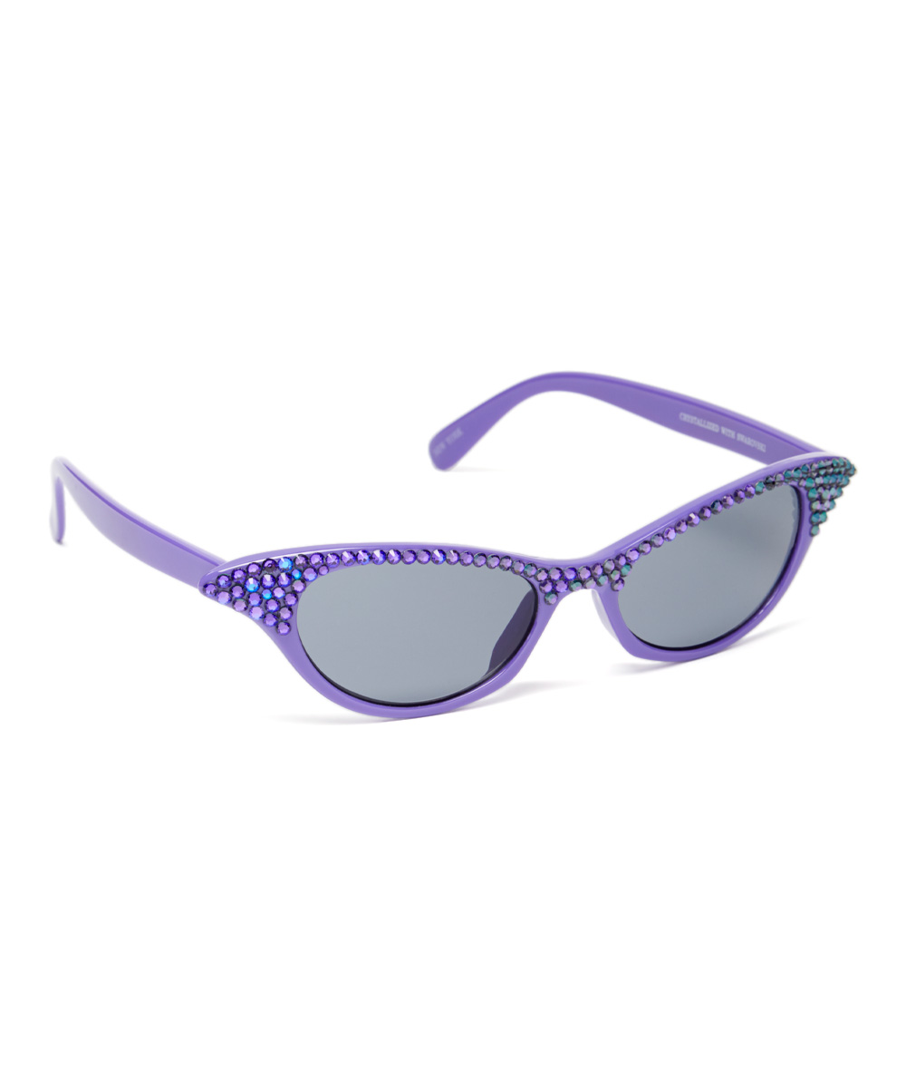 a3c18914683 JIMMY CRYSTAL NEW YORK Purple Cat-Eye Sunglasses With Crystals from ...