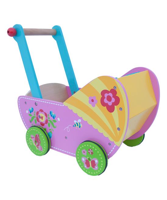 Dushi Purple Floral Doll Stroller