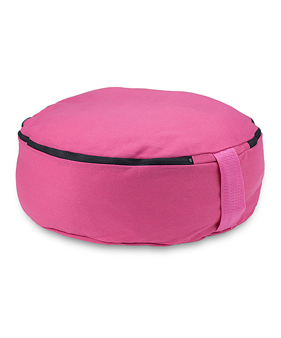 Crown Sporting Goods    - Pink 15'' Zafu Meditation Cushion Pink 15'' Zafu Meditation Cushion. Create the kind of easy comfort necessary for a clear mind with this zafu that helps elevate the lower torso to relieve joint stress on the hips, knees and ankles. 5'' H x 15'' diameterCanvas / cottonImported