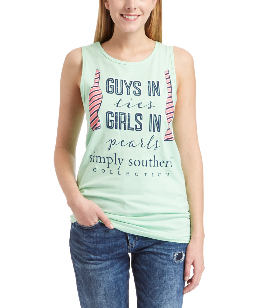 1cf12d202de9d3 love this product Mint  Guys In Ties Girls In Pearls  Tank
