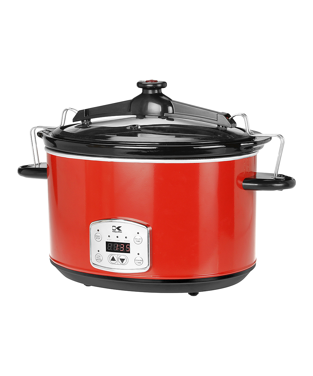 Kalorik  Slow Cookers Red - Red 8-Qt. Digital Stainless Steel Slow Cooker