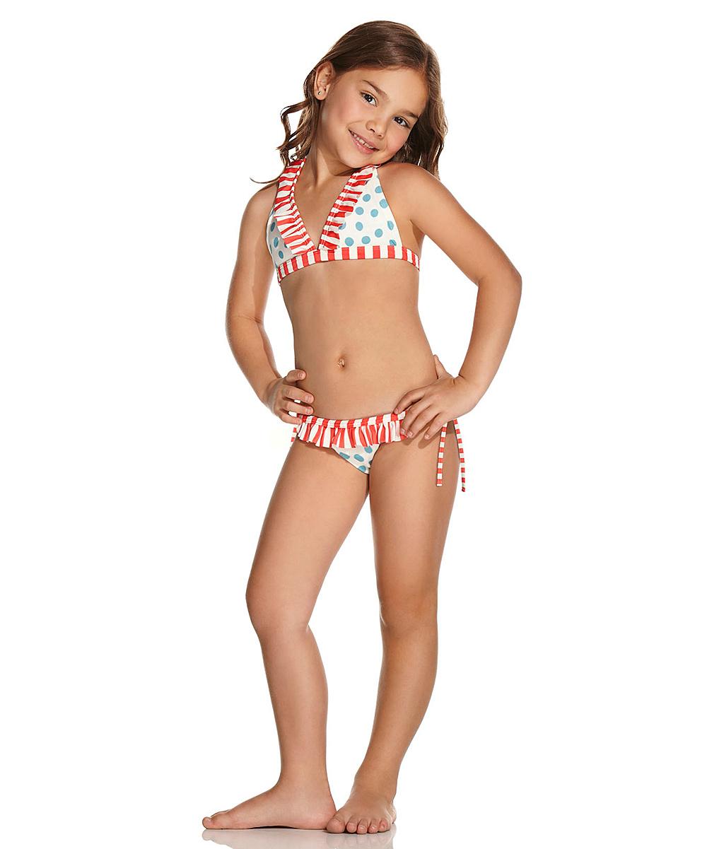 6d275d35d9 OndadeMar Miramar Halter Ruffle Bikini - Toddler   Girls