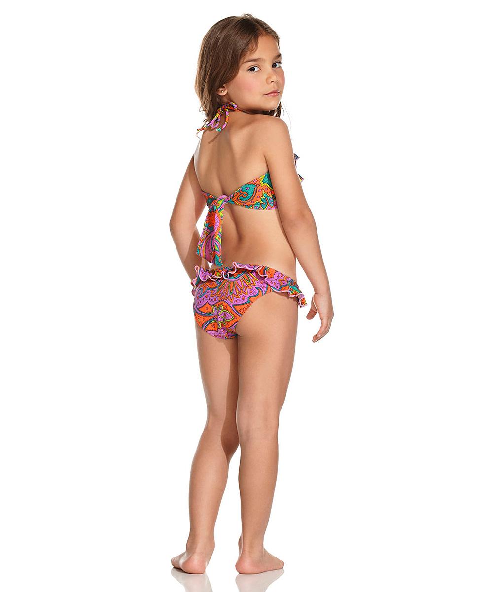 473491c03d OndadeMar Morocco Tiered Ruffle Bikini - Toddler   Girls