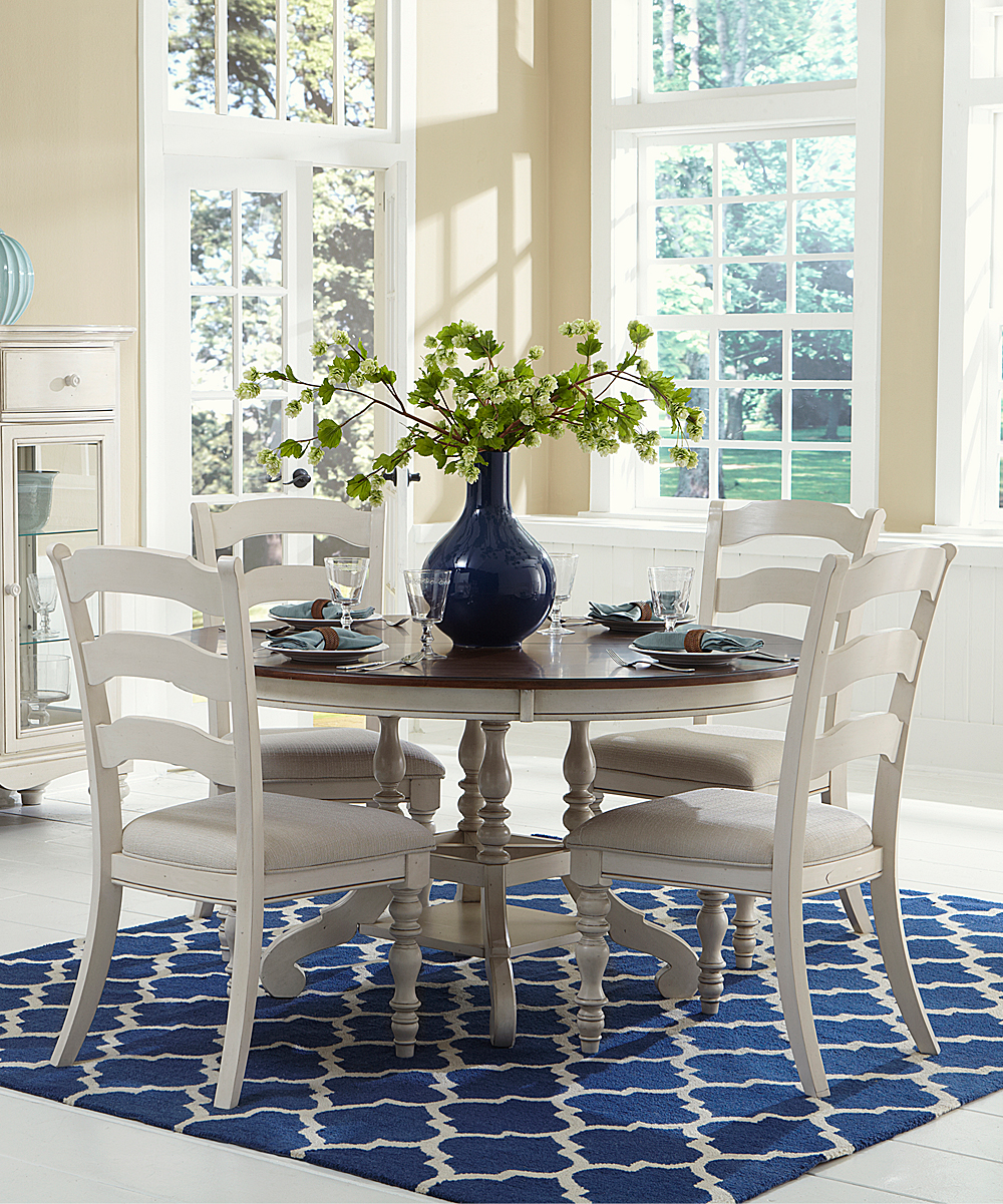 Old White Pine Island Five-Piece Round Dining Set  21fab715a4