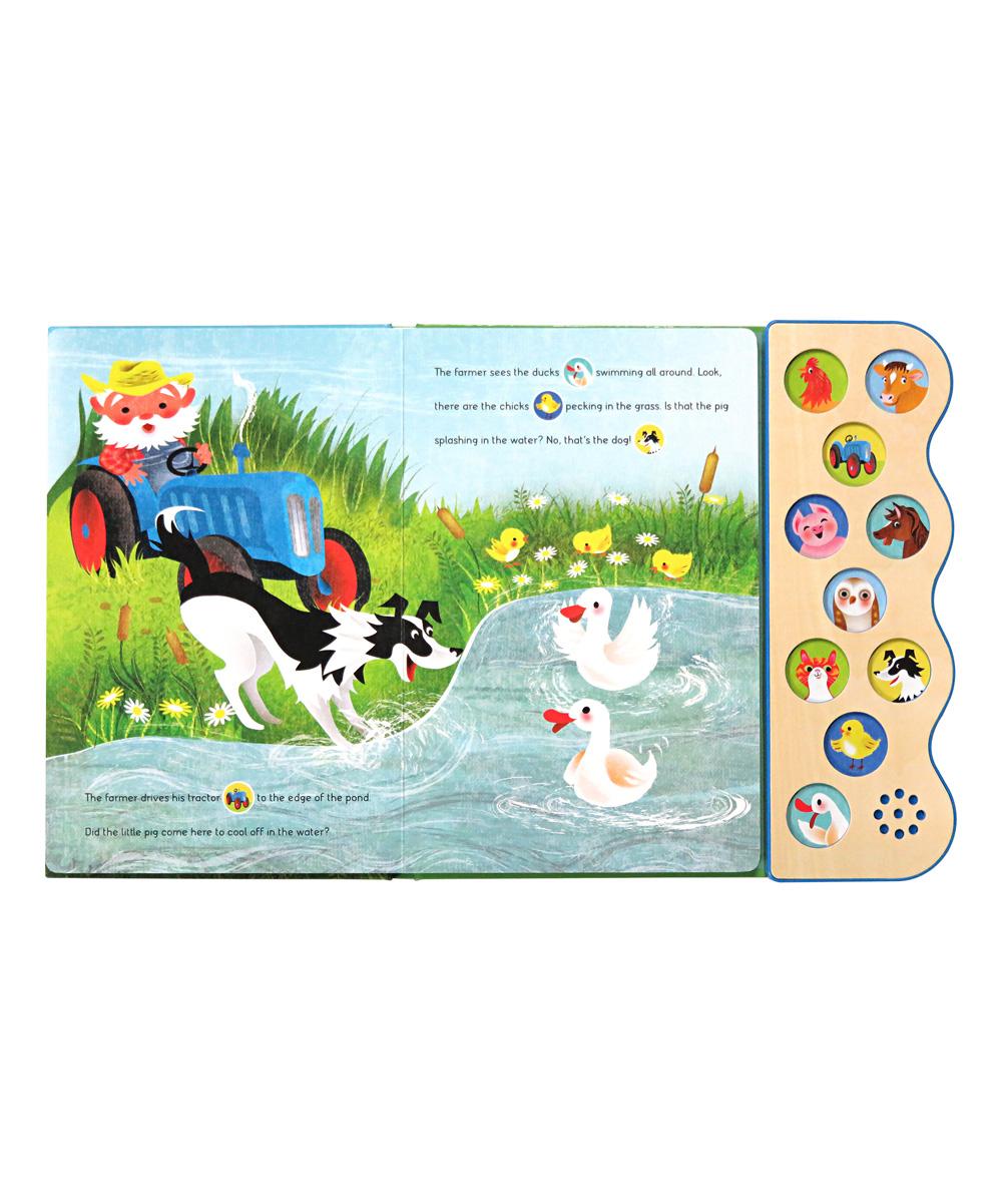 Cottage Door Press Early Bird Sound Busy Noisy Farm 10-Button Board Book