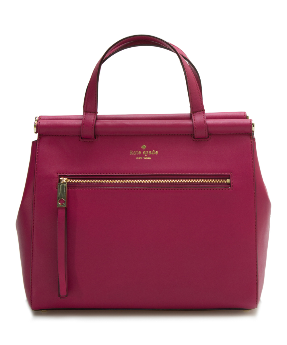 5fd84162c703 Kate Spade Red Plum Cherise Royal Palace Leather Satchel