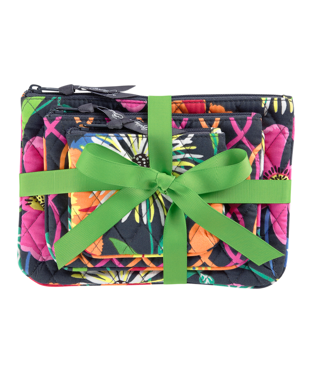 cdcbb78241 Vera Bradley Jazzy Blooms Cosmetic Bag Trio Set