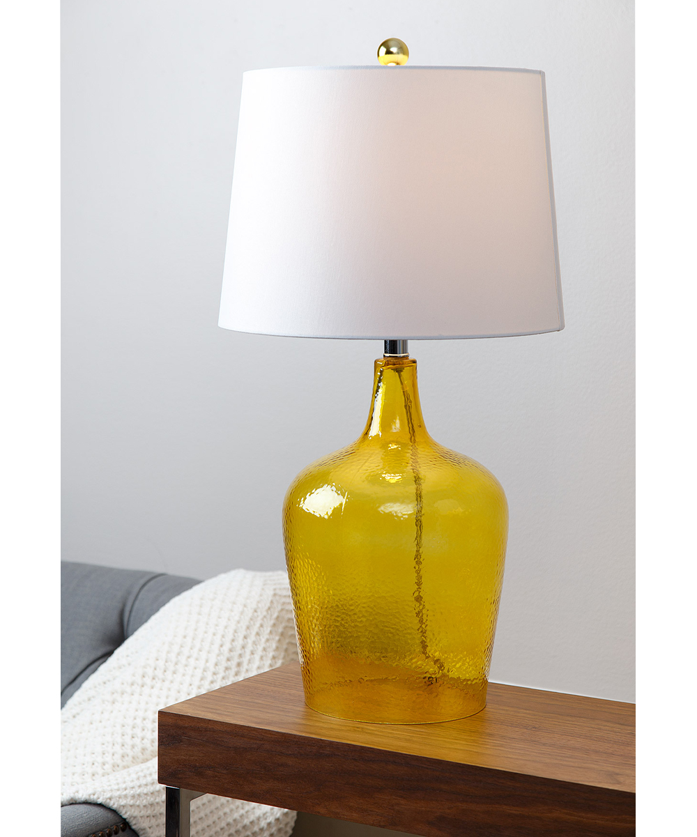 Amber Yellow Glass Table Lamp Set Of Two Zulily