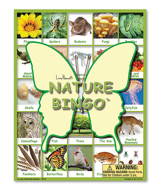 Lucy Hammett Games  Board Games  - Nature Bingo Game