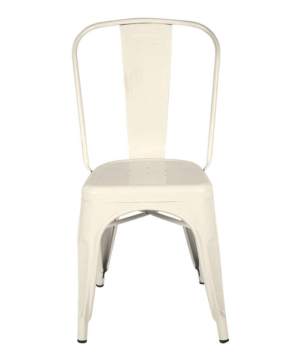 Cream Metal Dining Chair