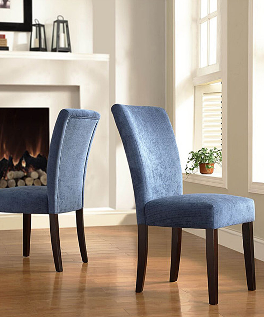 Blue Parson Dining Chair - Set of Two