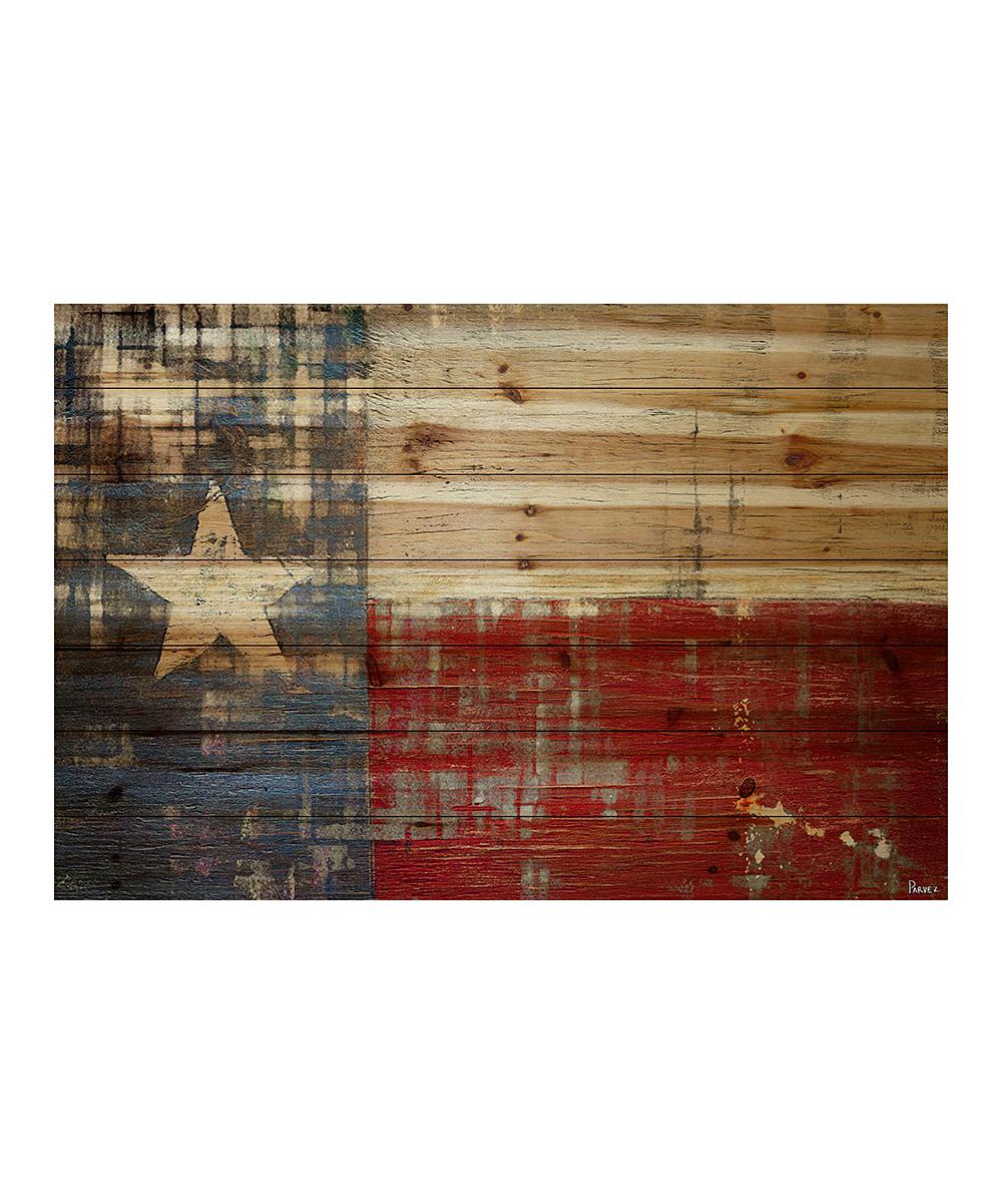 Parvez Taj Texas Flag Wood Wall Art