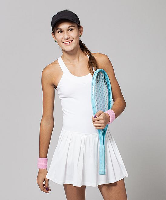 1af58aa7c6 ivivva White & Bali Breeze Match Point Dress