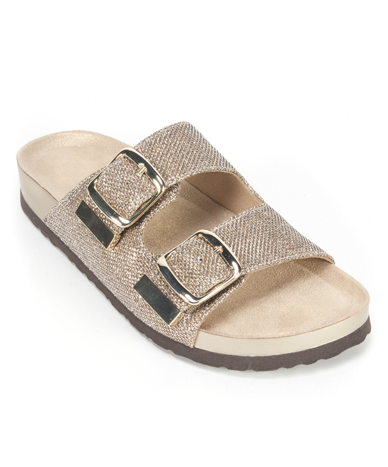 1612cee7e45 White Mountain Light Gold Glitter Horizon Sandal - Women