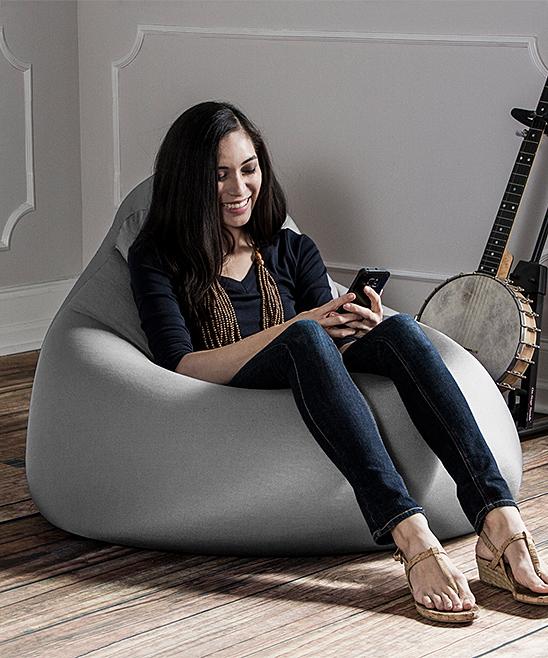 Strange Silver Jaxx Nimbus Spandex Large Bean Bag Chair Customarchery Wood Chair Design Ideas Customarcherynet