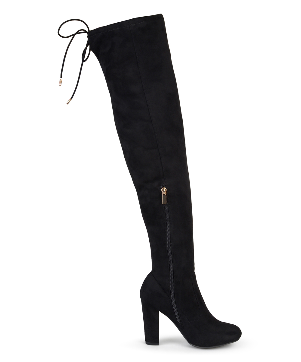 b91aa0c84dd Journee Collection Black Maya Wide-Calf Over-the-Knee Boot