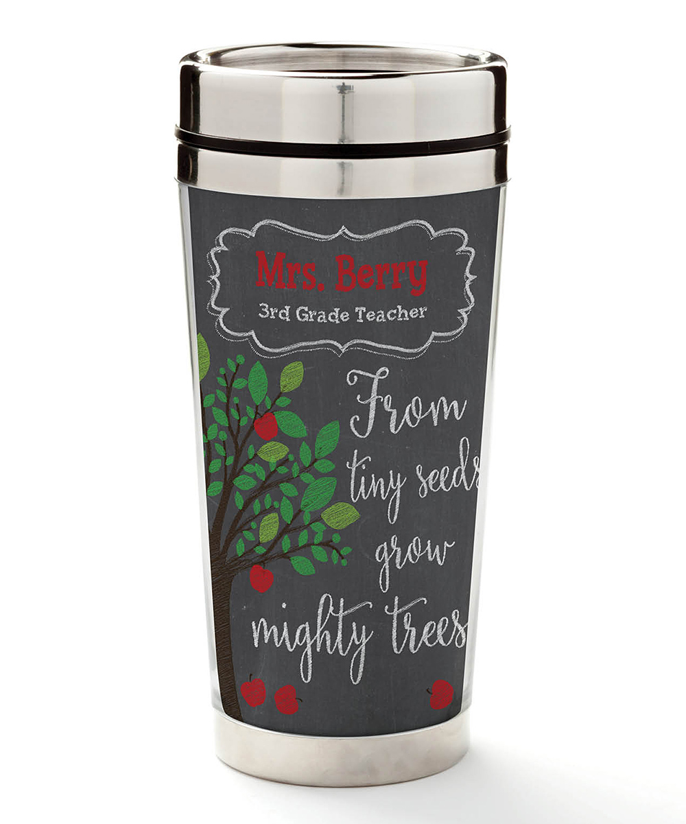b7d72e40cf0 Personalized Planet 16-Oz. 'From Tiny Seeds' Personalized Travel Mug