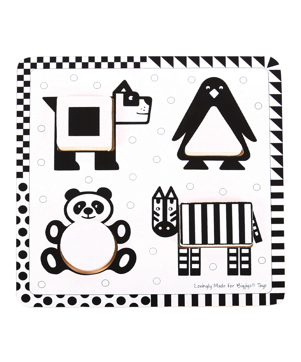 Bigjigs Toys  Puzzles  - Black & White Animals Puzzle