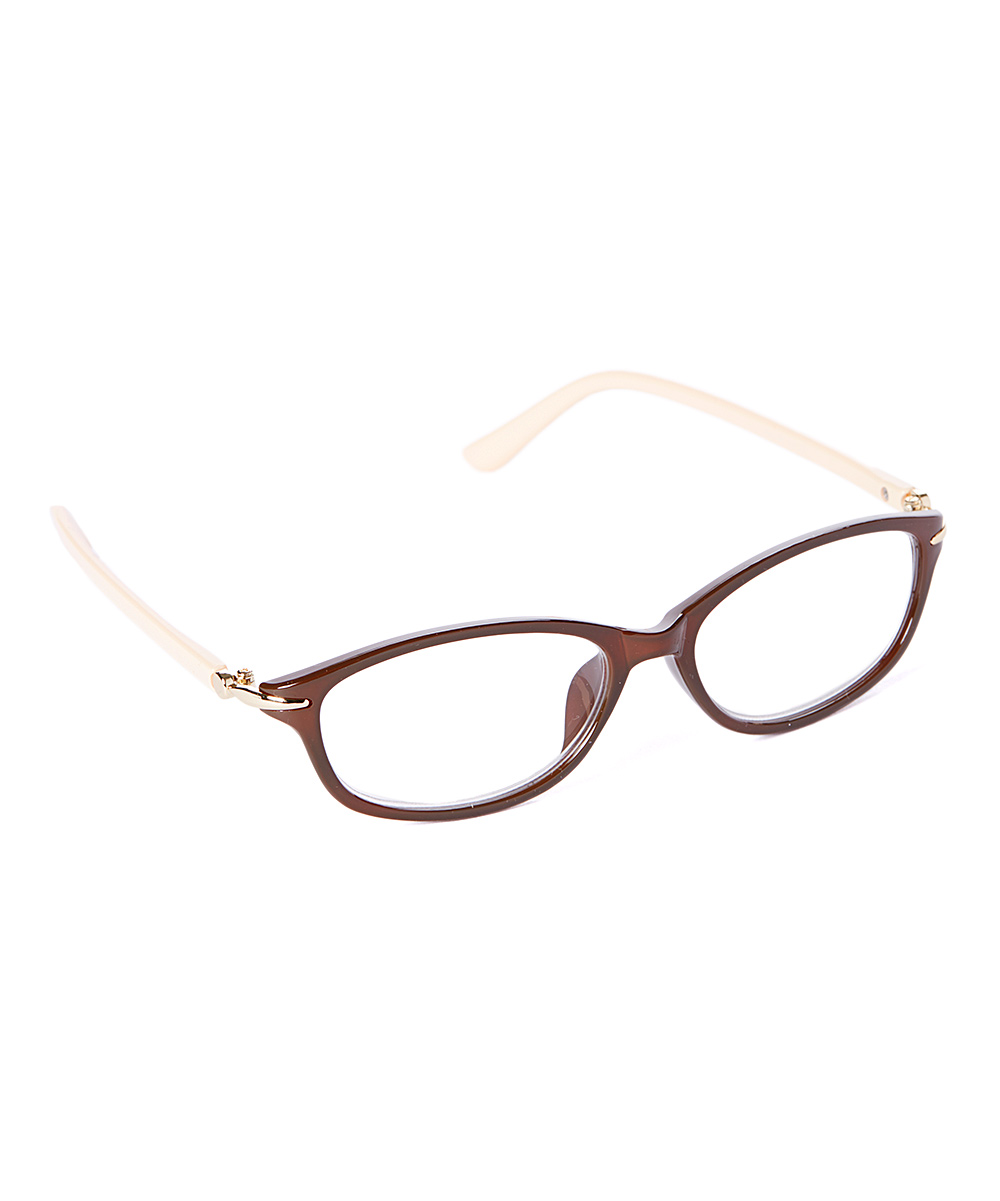 Fashion USA Women's Reading Glasses BROWN - Brown Rectangular Readers