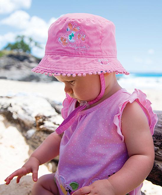 Millymook   Dozer Pink Reversible Flutter Bucket Hat  41dc15fd12bf