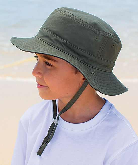 c13791cf98a Millymook   Dozer Gray Easton Bucket Hat - Toddler
