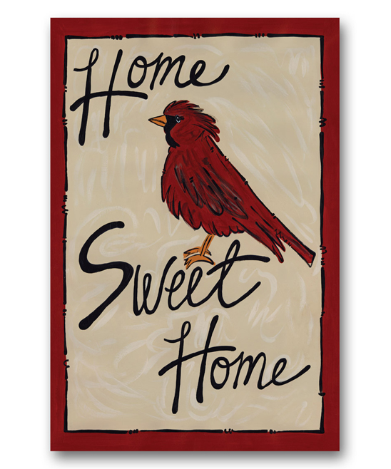 'Home Sweet Home' Bird Garden Flag