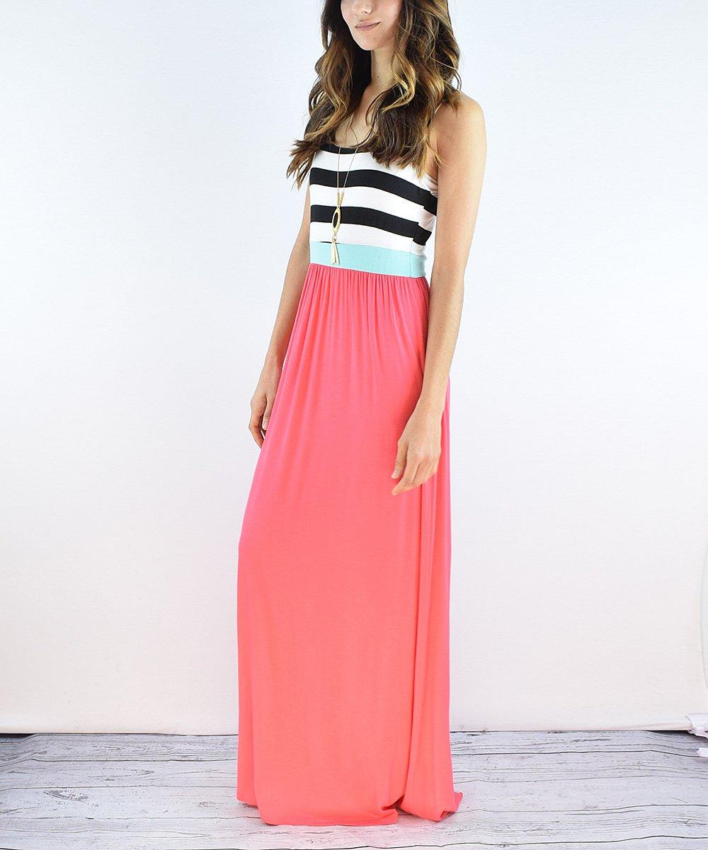 egs by éloges Coral Stripe Maxi Dress - Women  155ee7196