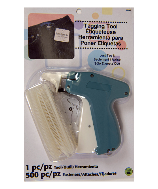 Tagging Tool & 500-Ct. Fasteners Set Tagging Tool & 500-Ct. Fasteners Set. Put your stamp on clothing with this tagging tool and its secure fasteners. Includes 500 fasteners and tagging toolPackaged: 6.88'' W x 10.75'' H x 1.83'' DNylon / steel / POM / ABSImported