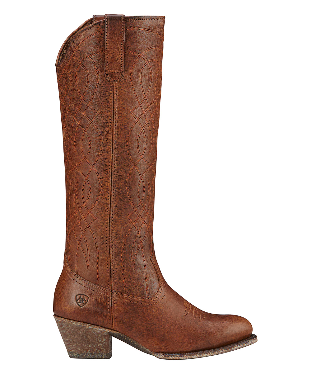 180c603fe91 Ariat Wood Wide-Calf Singsong Leather Cowboy Boot - Women