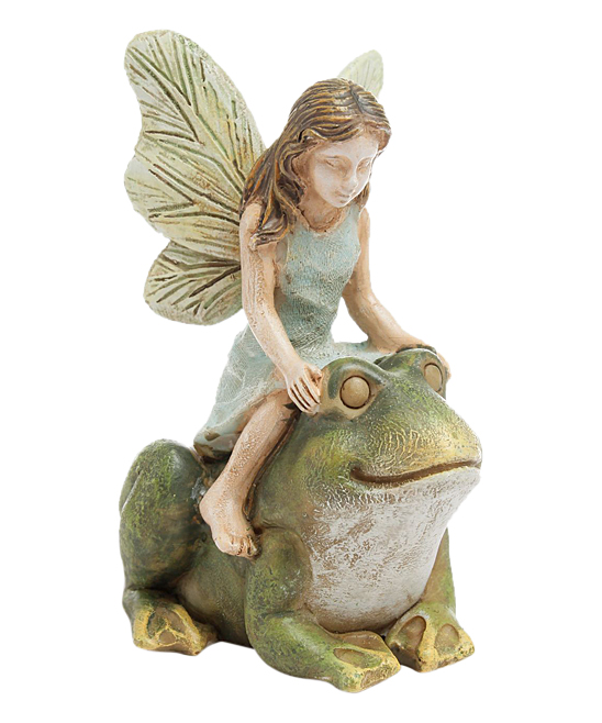 Marshall Home and Garden  Fairy Garden  - Fairy Riding Frog Figurine
