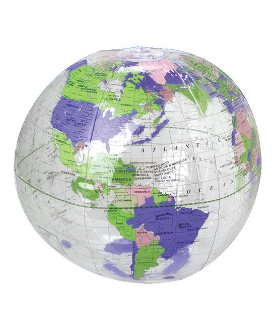 U.S. Toy Company  Geography and History Education Toys  - Transparent Inflatable Globe