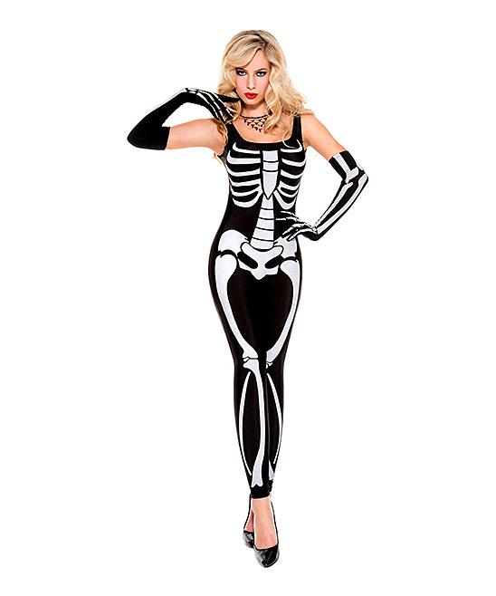 d4fdd24f80bd6 Black & White Skeleton Costume Set - Women