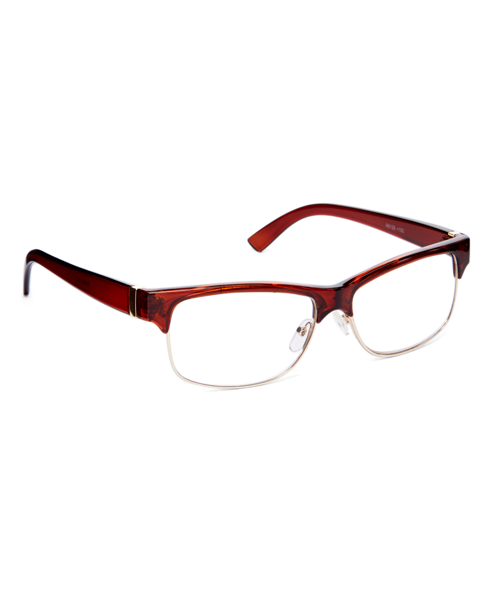 Fashion USA Women's Reading Glasses BROWN - Brown Browline Readers